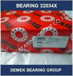 Qualidade superior do rolamento de roletes cônicos 32034 X em stock