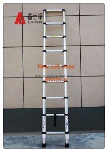 2m/2.6M/3,2 milhões/3,8 m de um clique lento para a segurança de alumínio perto de função degrau da escada telescópica com EN131-6 Certificado