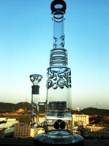 China Hitman fábrica recicladora de alta calidad en color tabaco Tall Bowl artesanales de vidrio Tubos de vidrio de Cenicero vaso botella lavagases Glaze-Glass embriagador artesanales únicas plataformas petrolíferas