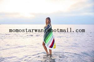 円のビーチタオル浜シートのあたりで印刷される綿Microfiber