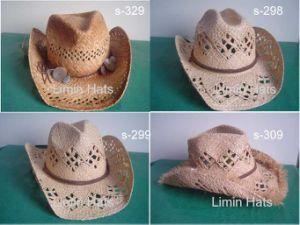 La rafia torcida la paja sombreros vaqueros (S-299)