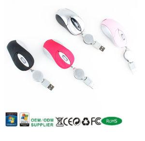 2011 Hot Mousemini cadeau avec câble rétractable de la souris (MS3013)