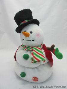Bonhomme de neige de danse de jouet de peluche d'animation de Valentine Veille de la toussaint de Noël