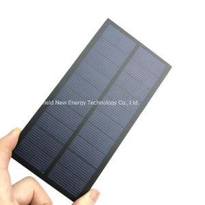 De pequeño tamaño, mini-PET de 5V 2W Poli Panel Solar para el bricolaje de la Luz Solar Charger Kit de juguetes