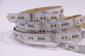 SMD 5050 DC24V Rgbwww 5 chip in una striscia flessibile della striscia 72 LEDs/M LED per il profilo del LED