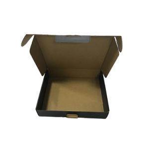 Bonita caja de embalaje de cartón con estampado de plata