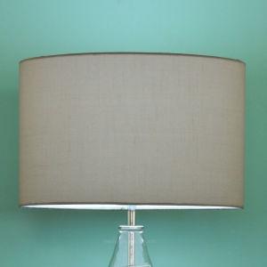 De binnenlandse Decoratieve Lamp van het Glas en de Witte Schemerlamp van de Schaduw van de Stof van het Linnen voor Guestroom