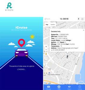 Gestão de frota GPS Rastreamento por GPS com software de servidor em nuvem