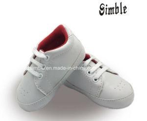 OEM Softsoles PU Mignon nourrissons Toddler Prewalker Chaussures de bébé