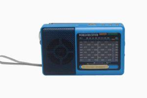 [بورتبل] 9 نطق [مو] [سو] راديو مع مجساميّة مجهار دعم [أوسب] [تف] بطاقة