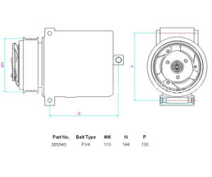 外部制御の可変的な変位、7seu置換の空気調節の圧縮機