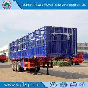 3 de Semi Aanhangwagen van de Staak van het Type van Omheining van assen voor Vervoer van de Lading stortgoed