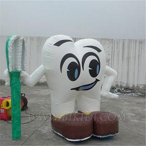 Dente gonfiabile con il Toothbrush per le promozioni dentali di affari (K3023)