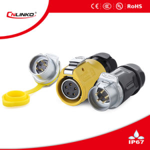 IP67 connettore impermeabile rotondo del connettore/5 Pin per illuminazione della lampada di via