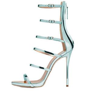 Les femmes sexy mariage Strappy Gladiator Sandals haut talon Stiletto chaussures