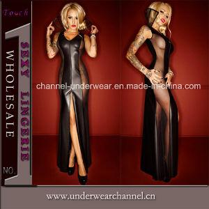 Les femmes sexy en simili-cuir Lingerie de nuit du Club de l'usure (TLQZ72015)