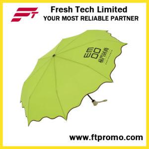 Handbuch-geöffneter faltender Regenschirm 3-Section