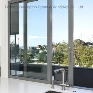 Finestra di vetro di alluminio di scivolamento del blocco per grafici per costruzione (FT-W132)