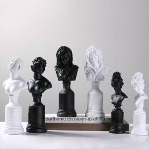 Polyresin Decoration artificielle Potrait Blanc de tête de statue de Vierge Marie