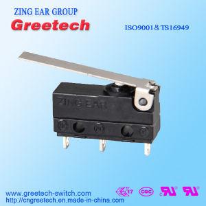 Drie Spelden 5A 125/250VAC maken Verzegelde Mini Micro- Schakelaar met Hefboom waterdicht