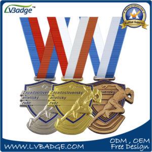 a573afa666f6 3D Diseño personalizado de bronce medalla de oro y plata deporte ...