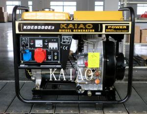 5KW 3 Fase melhor conjunto de gerador diesel vendidos 6500E3 Partida Elétrica com estrutura aberta