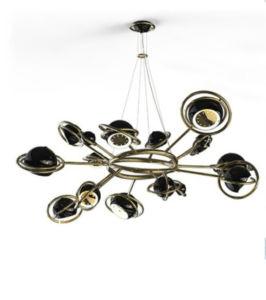 Sala de estar Cooper e Alumínio Pendente para pendurar a lâmpada (KAP8251)