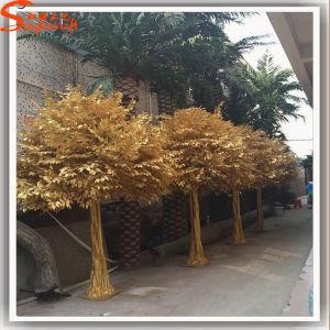 De gouden Kunstmatige Boom van Ficussen voor BinnenDecoratie