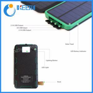 Два порта USB Банк солнечная панель питания Power Банк внешний батарейный блок для iPhone