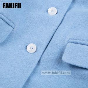 Marque de fabrique de vêtements pour bébés enfants vêtement de laine bleu d'hiver manteau de fourrure de filles d'usure de la mode