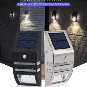 Solar Jardín Light-Sensor de pared de luz LED Lámpara de acero inoxidable