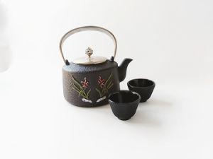 鋳鉄のエナメルを塗られた茶鍋