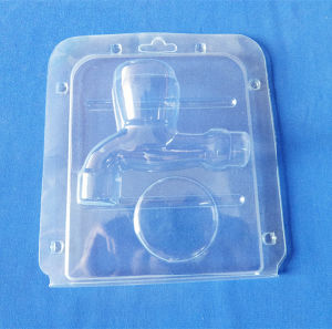 PVC Clamshell Box pour Valve Partie Plastic Packing Box Clear Blister Packing Box
