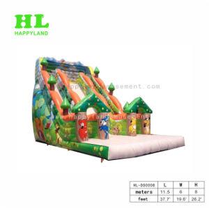 Parque de Diversões alegrar as Crianças Piscina Selva Slide insufláveis