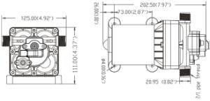 Laboratoire électrique 12V DC La pompe à eau