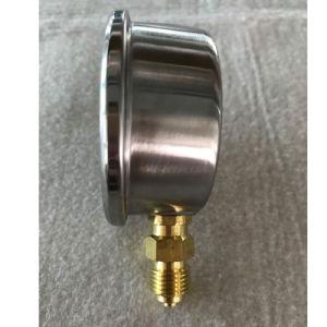 63mmサポートOEMの底台紙40bar油圧圧力計