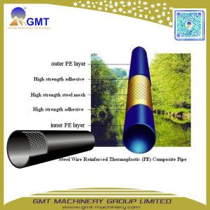 Espulsore di rinforzo a spirale di plastica del tubo del filo di acciaio del PVC di uso di trasporto di industria che fa la riga della macchina