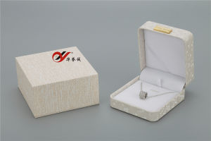 بيجيّ لون [بو] جلد أبيض مجوهرات حل وعقد صندوق مع خارجيّ يعبّئ صندوق
