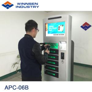 Winnsen Handy-Nachladen-Station mit LCD-Touch Screen, 6 Schließfach-Batterie-Ladestation-Kiosk