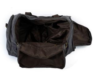 Les garnitures en cuir canevas Weekender Voyage Voyage Femme Homme Sac de Sport (RS-9153)