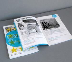 手動高品質によってカスタマイズされるパンフレットの印刷の製品