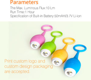 Junta de Silicone Mini Lanterna LED recarregável Ubs para presente de promoção