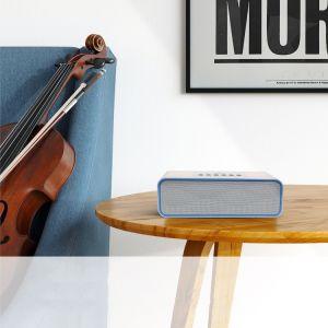 Altoparlante ad alta fedeltà di corsa portatile senza fili dell'altoparlante V4.0 di Bluetooth mini (bianco)