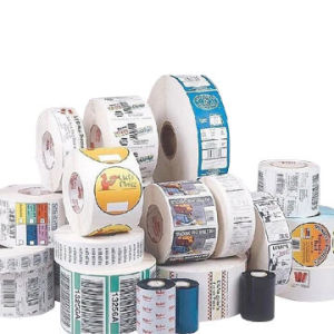 Cor Impressa Customzied Etiqueta de envio de autocolante etiqueta impressa