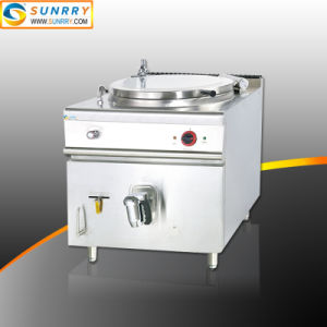 ジャケットのやかんの炊事道具鍋が付いている電気沸騰鍋150リットルの
