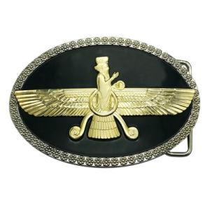 工場価格の卸売のカスタム3D方法ロゴ亜鉛合金または真鍮か西部の旧式な銀製の調節可能なメタルピンのベルトの留め金(007)