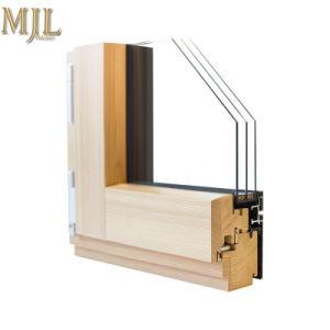 Portello di vetro della stoffa per tendine della Camera del blocco per grafici di legno di alluminio esterno moderno di obbligazione