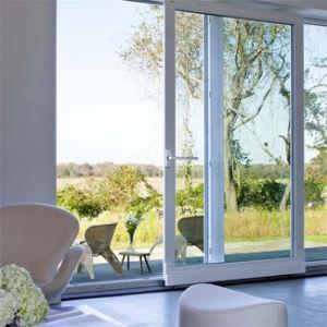 Perfil de metal doble vidrio interior puerta exterior de aluminio Puerta del panel deslizante