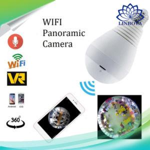 HD 960p 1080P Bombilla V380 WiFi de vigilancia cámaras IP Wi-Fi a ojo de pez panorámicas de 360 grados para cámaras CCTV
