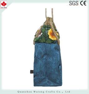 De Bloemen van de hars en het Welkome Decoratieve Met de hand geschilderde Vogelhuis van de Zak